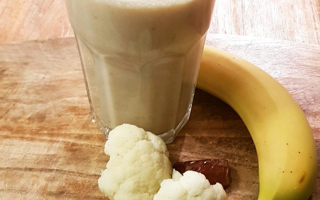 Banaan bloemkool smoothie