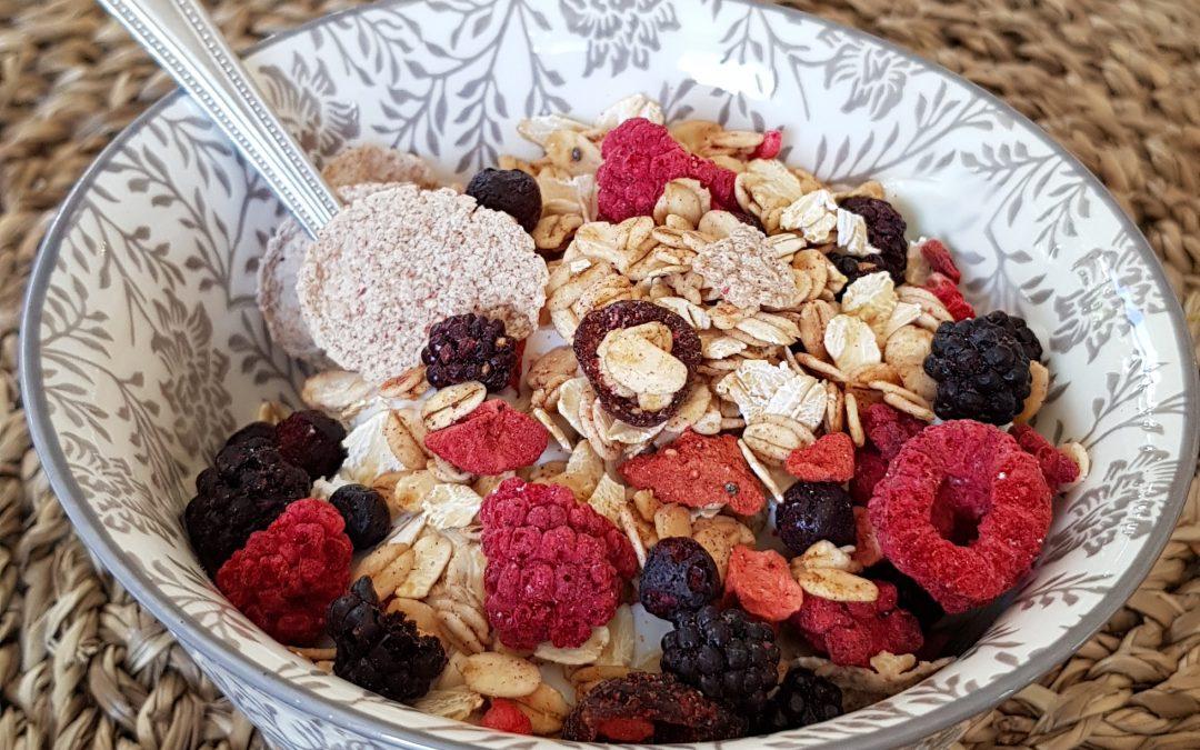 Kwark met vruchten granola
