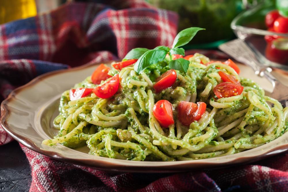 Groene pesto pasta