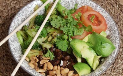 plant-based poke bowl.