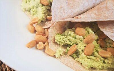 Avocado-tofu wrap