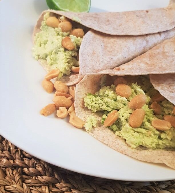 Avocado-tofu wrap